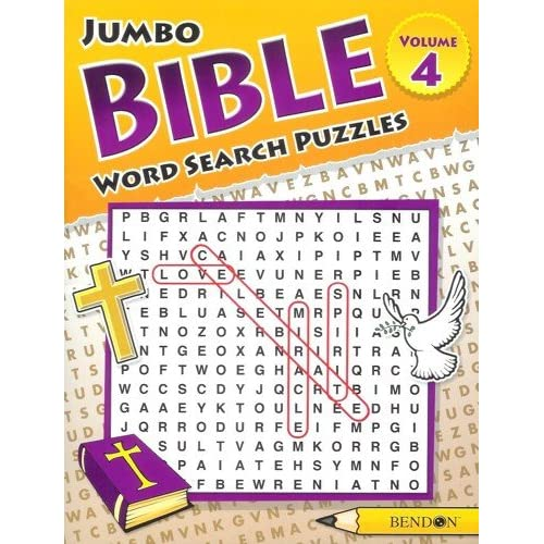 Jumbo Bible Word Search Puzzles Volume 4 Puzzles From