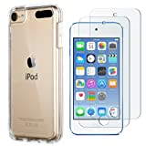 iPod Touch Case with 2 Screen Protectors,iPod 6 Cases, ULAK CLEAR SLIM Soft TPU Bumper Case for iPod Touch 5/6th Generation Hard Cover (Clear) (Color: Clear)