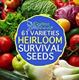 Organic Heirloom Preppers Pack Special Non-gmo Non-hybrid 36,666 Seeds Free Bonus 61 Varieties Twice The Seeds As Any Competitor All Seeds Are Vegan