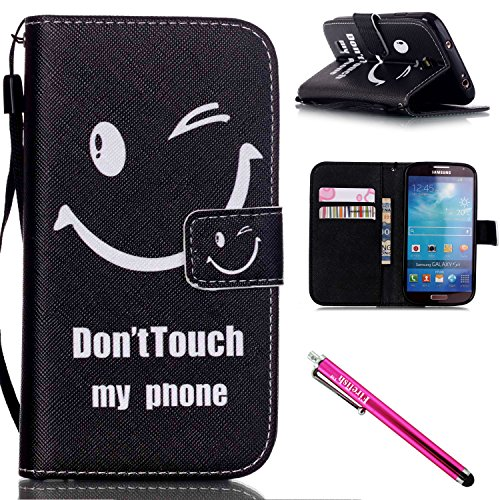 Galaxy S4 Case, Galaxy S4 Wallet Case, Firefish [Kickstand] [Shock Absorbent] Double Protective Case Flip Folio Slim Magnetic Cover with Wrist Strap for Samsung Galaxy S4 i9500-Smile (Hello Kitty Chrome Book Cover compare prices)