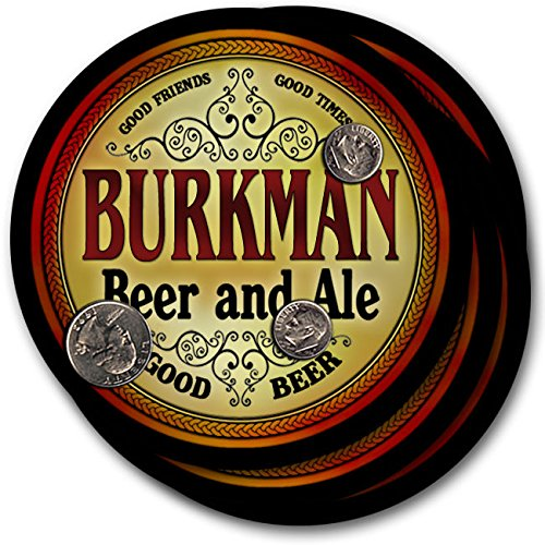 Burkman Beer & Ale - 4 pack Drink Coasters (Burkman Brothers compare prices)