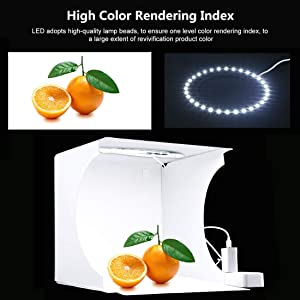 PULUZ 20cm Ring Light Photo Studio Light Box, Adjustable Portable Photography Shooting Light Tent Kit with White/Warm/Soft Lighting + 6 Backdrops for Jewellery and Small Items (Color: 20cm Ring Light Light Box)