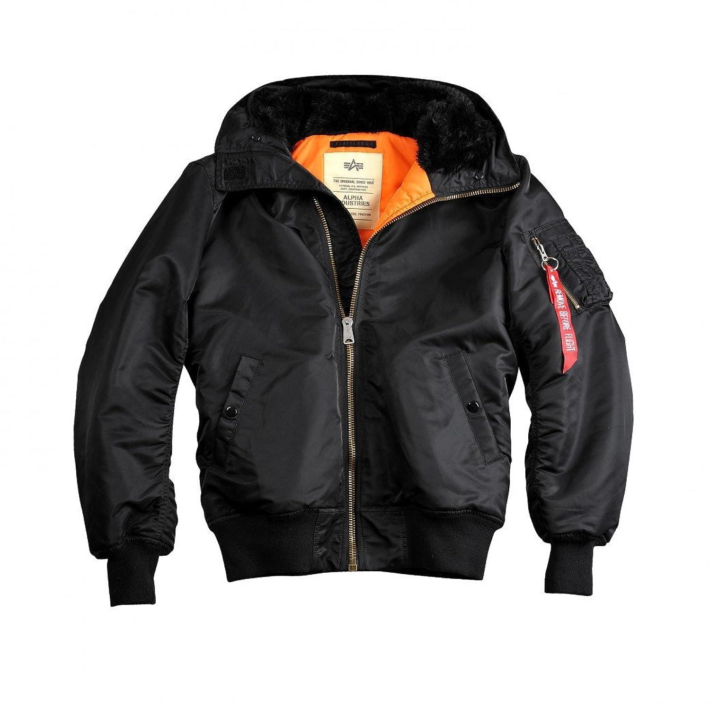 Alpha Industries Jacke MA-1 Hooded w.o. fur, Farbe:black;Größe:L online kaufen