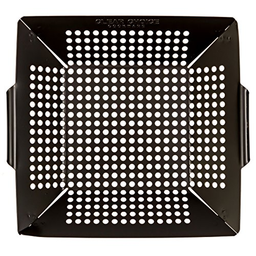 Grill Basket Grill Pans for Outdoor Grill Veggie Basket also for Chicken Meats and Fish from Clear Choice Cookware Non Stick BBQ Grill Pan for Soap & Water Cleanup (Grilled Veggie Basket compare prices)