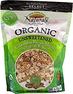 New England Naturals Organic Unsweetened Muesli Cinnamon Raisin -- 10 oz