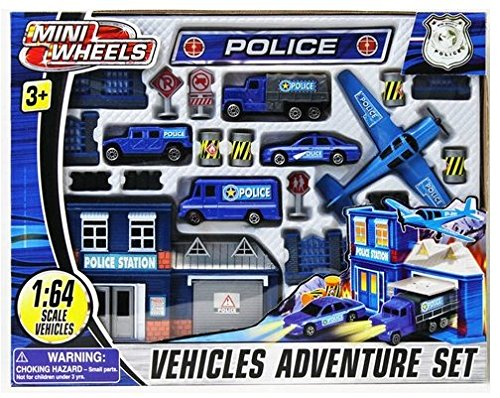 Mini Wheels: Police Vehicles Adventure Set - 1