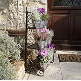 Plant Theatre Etagères pour fleurs et plantes en fer forgé design classique - bronze