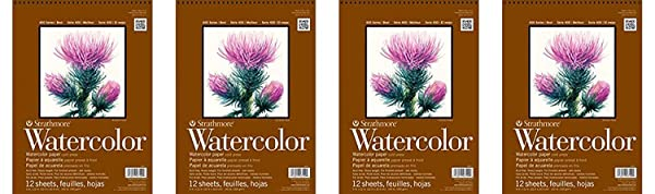 Strathmore 440-1 Strath W.Color 400 9X1212SHT 130 lbspirl, Multicolor (F?ur Pa?k, Multicolor) (Color: Multicolor, Tamaño: F?ur Pa?k)