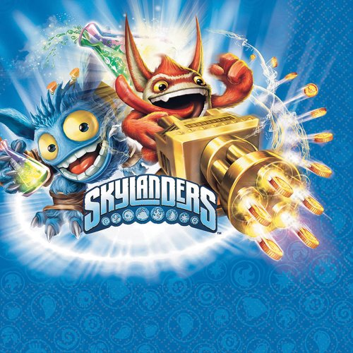 Skylanders Luncheon Napkins - Birthday and Theme Party Supplies - 16 Per Pack