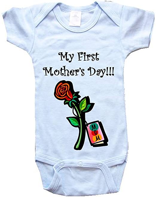 MY FIRST MOTHER'S DAY! – BigBoyMusic Baby Designs – BigBoyMusic Baby One Piece Bodysuit / Baby T-shirt