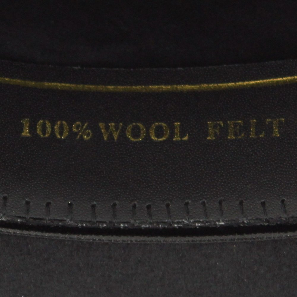Belfry Topper 100% Wool Satin Lined Men's Top Hat in Black Available in 4 Sizes 3