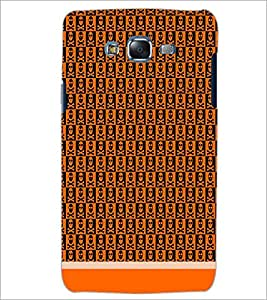 PrintDhaba Skull Pattern D-1465 Back Case Cover for SAMSUNG GALAXY J7 (Multi-Coloured)