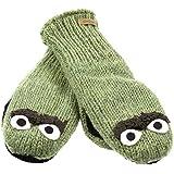 Sesame Street - Unisex-adult Sesame Street - Oscar Head Knit Mittens Green