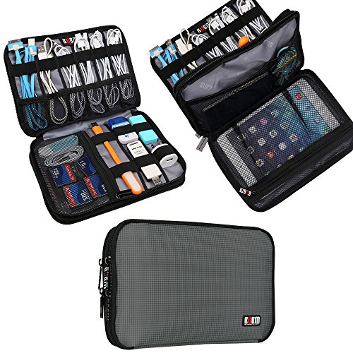 bubm-double-layer-travel-gear-organiser-electronics-accessories-bag-mediumgray