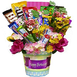 Art of Appreciation Gift Baskets Happy Birthday Candy Bouquet