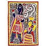 """Kunst aus Indien Malerei Madhubani Biologisches Farbpapier 76 x 56 cmvon """"ShalinIndia"""""""