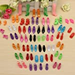 Domire 40 Pairs of Doll Shoes Fit Bar...