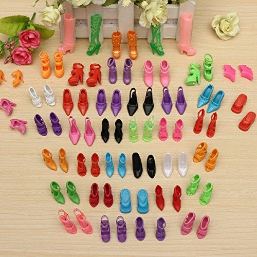 MECO(TM)40 Pairs Doll Shoes Sandals Barbie Shoes Fit Barbie Dolls - 1