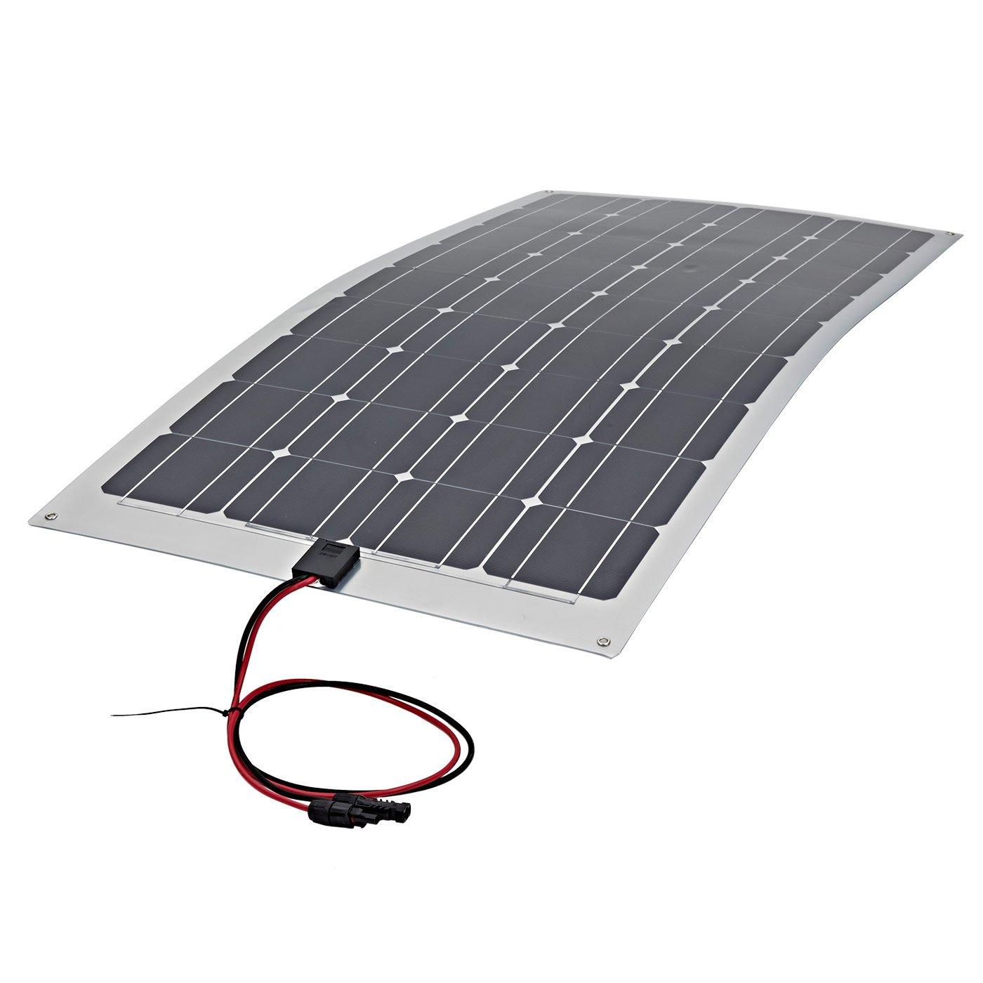 100W Flexibles Photovoltaik Solarpanel  100 Watt Solarmodul  Monokristallin Silizium Solarzellen  Ideal zum Aufladen von 12V Batterien  Optimal für Unebene Oberflächen  Kompakte Größe & Maximale Leistung  Umweltfreundlicher Solarstrom  Überprüfung und Beschreibung