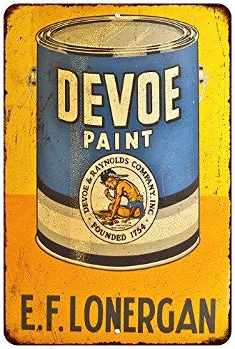 Devoe Paint Vintage Look Reproduction Metal Sign 8x12 8123238 (Devoe Paint compare prices)