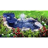 Algreen Folding Pond Kit with Streamlet Watercourse, 105-Gallon