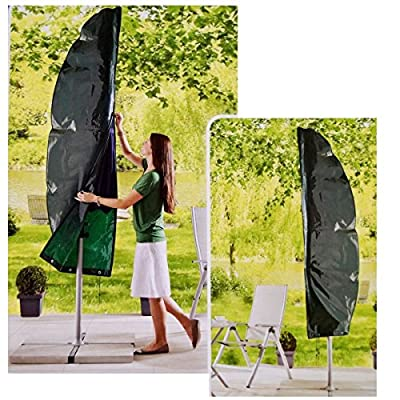 Ampelschirm Schutzhülle Ø 300 cm Grün Sonnenschirm Abdeckung Hülle von CONNEX auf Gartenmöbel von Du und Dein Garten