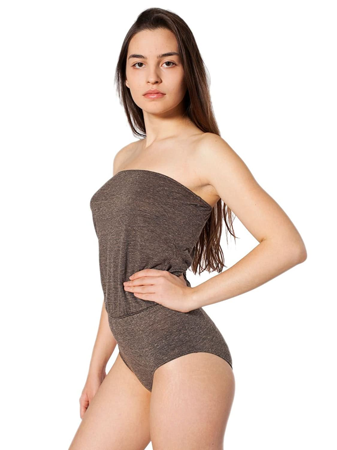 American Apparel Tri-Blend High-Waist Brief Romper günstig