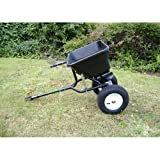 The Handy Towed Garden Lawn Spreader 80lbs - Ideal For Fertiliser, Salt, Grass Seeds Ect