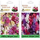 Alkarty Phlox Mixed And Sweet Peas Spencer Mixed Seeds Pack Of 20 (Winter)