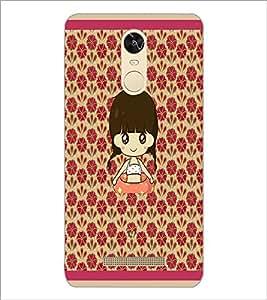 PrintDhaba Cartoon Girl D-2661 Back Case Cover for XIAOMI REDMI NOTE 3 MEDIATEK (Multi-Coloured)