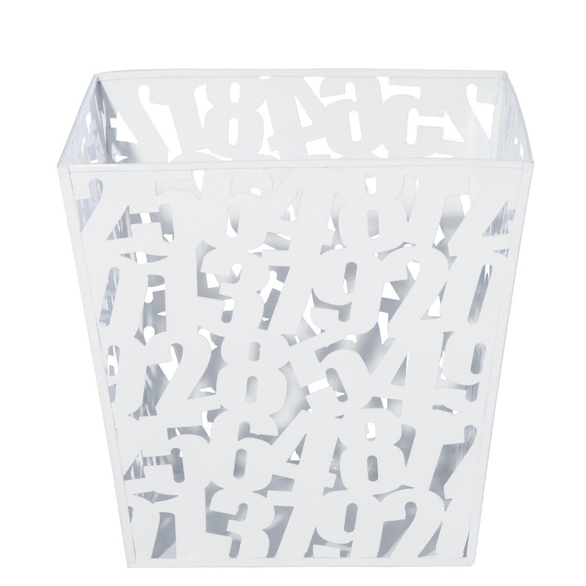DXP Design Kreativ Papierkorb Mülleimer Papierkörbe Abfalleimer Abfall Korb Eckig Metall Weiß JZL03W günstig