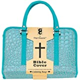 Turquoise Faux Alligator Bible Cover