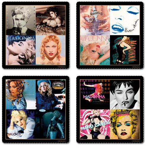Madonna boxed set of 4 drinks coasters (ro)