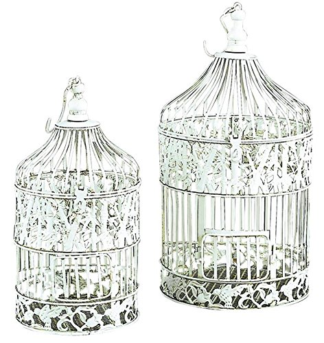 Deco 79 Metal Bird Cage, 22-Inch and 15-Inch, Set of 2 0