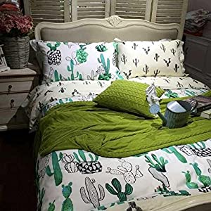 Full Size Bed Sheets Cactus Pattern