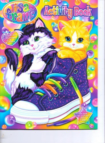 Lisa Frank Activity Book with 30 Stickers & 2 Posters