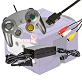Gamecube Video Game Console Starter Kit by REVOLT Gamer - Original Type Wired Gamepad Controller, AC Adapter, and AV Composite Cable (Platinum)