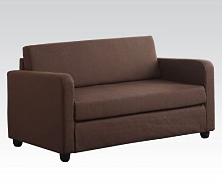 Acme 57085 Modern Chocolate Fabric Sleeper Sofa