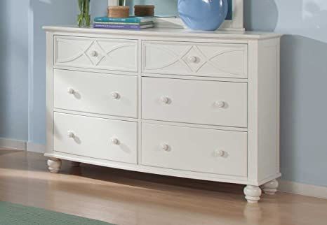 Homelegance Sanibel 6 Drawer Dresser in White