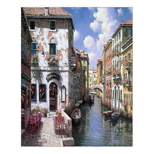 Beautiful Modern Art Watercolor Painting Color Italy Venice Canvas ...