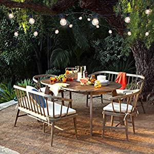 Brightech Ambience Pro - Waterproof Solar LED Outdoor String Lights - 1W Retro Edison Filament Bulbs - 27 Ft Globe Lights Create Bistro Ambience In Your Yard, Pergola - Soft White (Color: (3000K) Soft White)