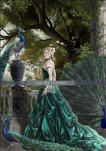 "Amazon.com: Nene Thomas Emerald Hawthorn 5"" x 7"" Print: Posters"