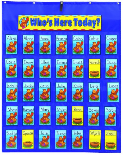 Carson Dellosa Attendance/Multiuse Pocket Chart (5644) (35 Pocket Chart compare prices)