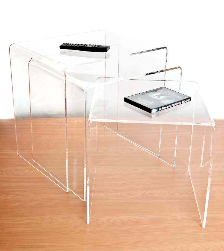 Clear Acrylic Nest Of Tables (Set Of 3)       Customer reviews