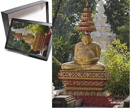 Photo Jigsaw Puzzle of Wat Si Saket, Vientiane, Laos, Indochina, Southeast Asia, Asia