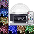 GHJ Remote Control Crystal Ball LED Stage Lighting Disco Lights for Club DJ Christmas Party