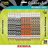 Zebra Pen Cadoozle Animals Mechanical Pencil, 0.7mm, Assorted, 28-Pack (51628)