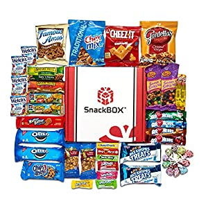 Halloween Candies Chips and Cookies Care Package Assortment Variety Pack Bundle Bulk Sampler (45 Count) SnackBOX