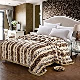 MeMoreCool 2015 New Arrival! All Seasons Collection Super Soft Raschel Throw Blanket Double Layer Thicken Blanket...