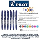 Pilot Blue Frixion Rollerball Erasable Pens Pen 0.7mm Nib Tip 0.35mm Line BL-FR7 (Pack Of 12)